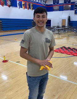 Perry High School Senior, Mario Cruz, is going into the National Guard after high school graduation.