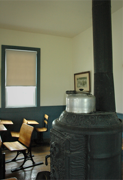 shot of the inside of a one-room school house