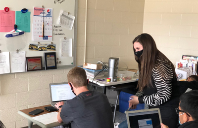 College and career counselor Theresa Putnam Genz works to help students find their passions and then maps out a plan for beyond high school for each student. She teaches students at Louisa-Muscatine and Columbus high schools.