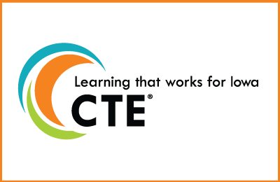 CTE logo Learning that work for Iowa